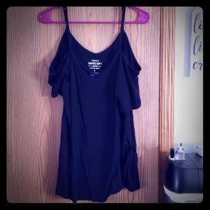 Torrid open shoulder flowy shirt
